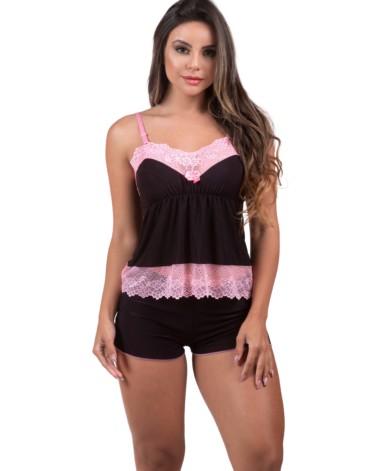 Short doll com detalhe em renda - Fernanda