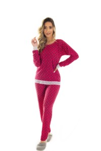 Pijama em liganete estampada - Lana