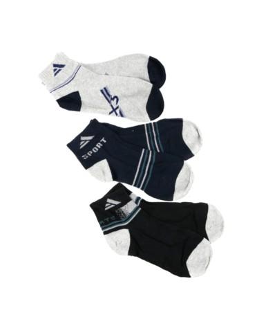 Kit com 3 meias curtas variadas