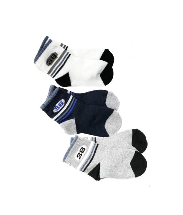 Kit com 3 meias masculina infantil