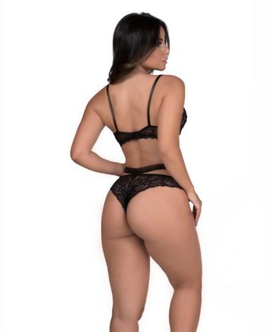 Conjunto sexy em renda - Geovanna