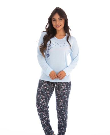 Pijama charmoso estampado
