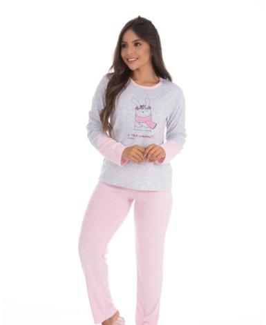 Pijama em plush com estampa