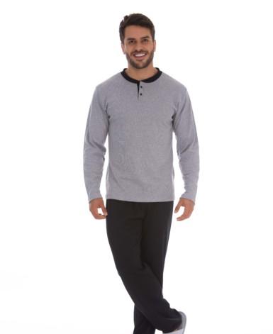 Pijama masculino bicolor confortável
