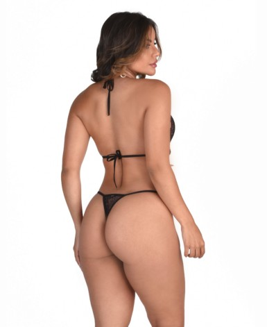 Body sexy em renda chantilly