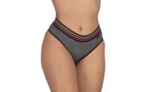 Calcinha com elástico colorido na cintura - Liliane