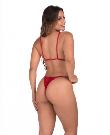Conjunto sexy em renda - Paula