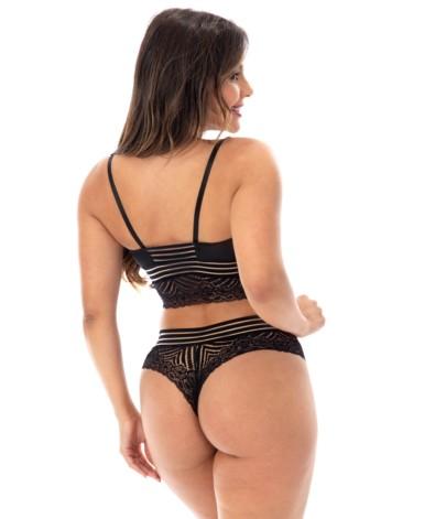 Conjunto com renda sexy - Drica