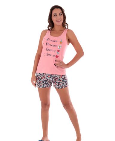 Pijama Feminino Camiseta