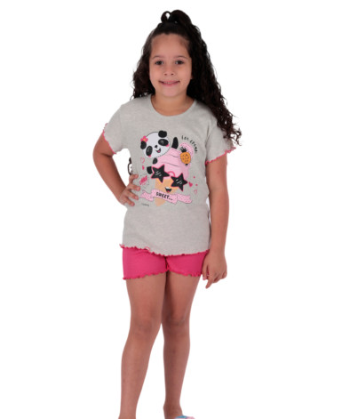 Pijama infantil feminino